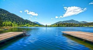 Горное озеро в Кицбюэле