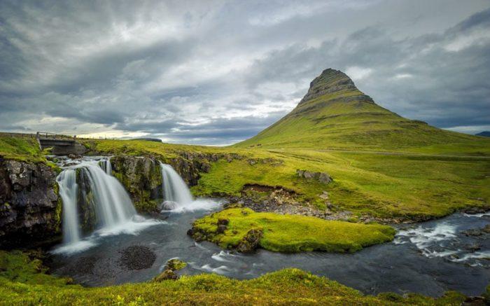 Гора Киркюфель, Исландия