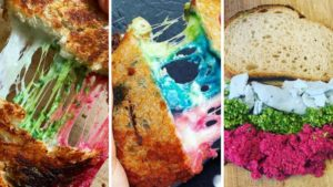 Разноцветный тост появился в Лондоне
