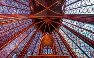 Красивые места Европы Сент-Шапель, Париж