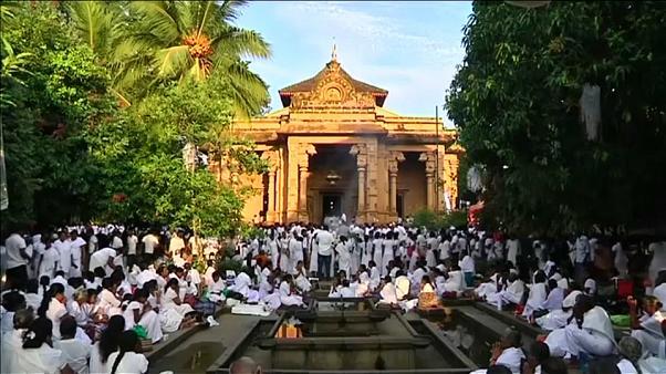 Миллионы буддистов в Шри-Ланке отмечают день рождения Будды