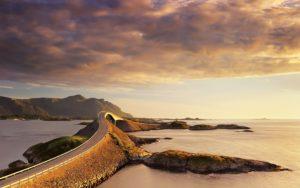 Красивые места Европы Атлантик-роуд, Норвегия