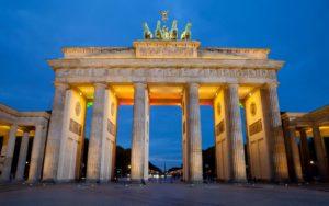 Красивые места Европы Бранденбергские ворота, Берлин